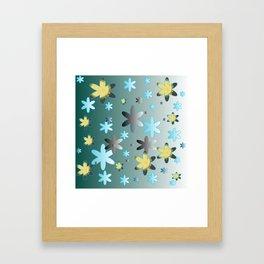 Gradient Stars Framed Art Print
