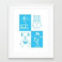 robots Framed Art Prints featuring Robots by Studio Teer