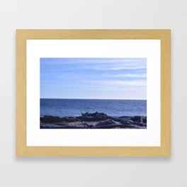 sea rocks. Framed Art Print