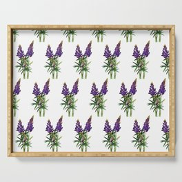 Lovely Lupine Serving Tray