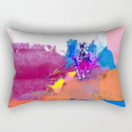 polo abstract red blue Rectangular Pillow