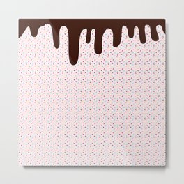 Pink Sprinkles Choc Top Metal Print