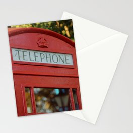 London Telephone Box, Red UK Phone Booth Stationery Cards