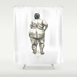 Woman in Shower Shower Curtain