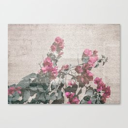 Shabby Chic Style Floral Photo Canvas Print