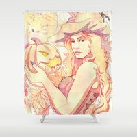 witchcraft Shower Curtains featuring Witchcraft by Souzou Inc