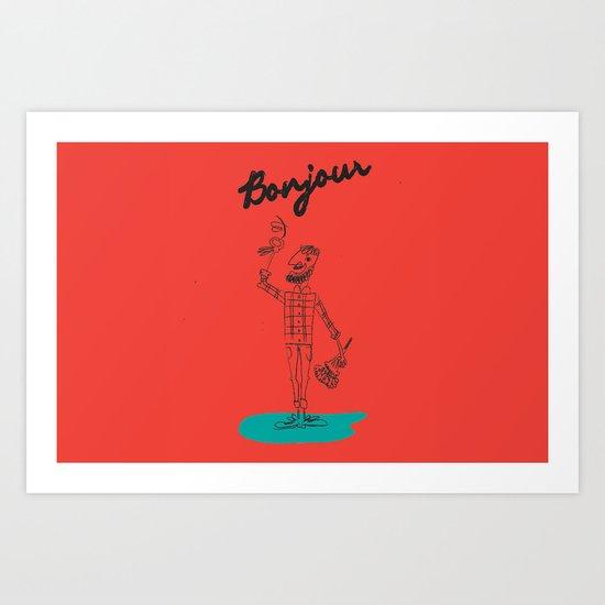 "The Ink - ""Bonjour"" Art Print"