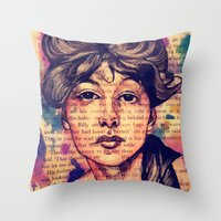 agnes Throw Pillows featuring Agnes Mackenzie by Olga Noes