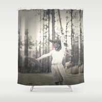 warrior Shower Curtains featuring Warrior by JessaDee`Designs