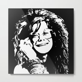 GIFTS FOR ALL OF A FEMALE SINGER, SONGWRITER AND 1960'S LEGEND FROM MONOFACES Metal Print