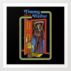 TIMMY HAS A VISITOR Art Print