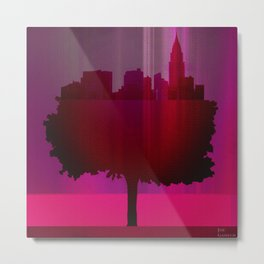 Point of view on the purple city Metal Print