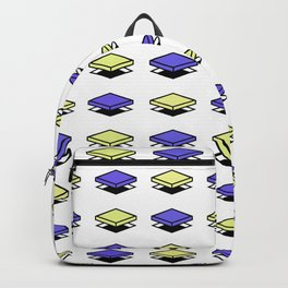 Float Pieces Blue and Yellow Backpack