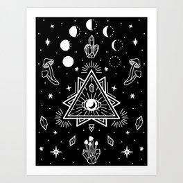 mystic realm iii Art Print