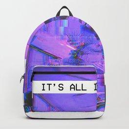 Vaporwave Aesthetic Style Emotional Dream Gift for sad boys and girls Backpack