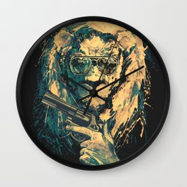 Lion is always Cool Wall Clock