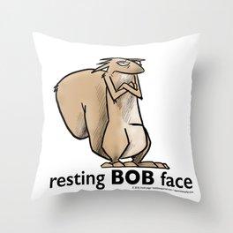 Resting Bob Face Throw Pillow