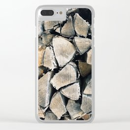 Woodpile I Clear iPhone Case