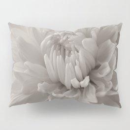 Monochrome chrysanthemum close-up Pillow Sham