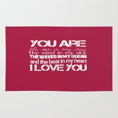 You Are My Valentine Rug