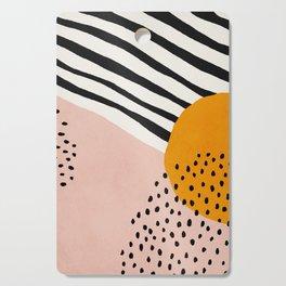 Abstract, Mid century modern art Cutting Board
