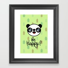 PANDA,GO!! Framed Art Print