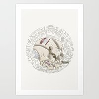 philosophy Art Prints featuring Philosophy Skuhl by clogtwo
