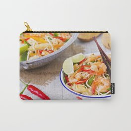 I - Healthy shrimp and vegetables stir-fry in a bowl, brightly lit Carry-All Pouch
