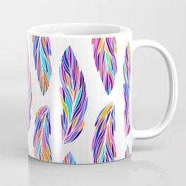 EXOTIC BIRD FEATHERS 03, on white Coffee Mug