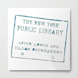 New York Public Library stamp Metal Print