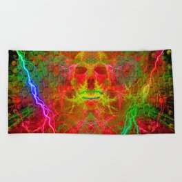Electric Skull Beach Towel