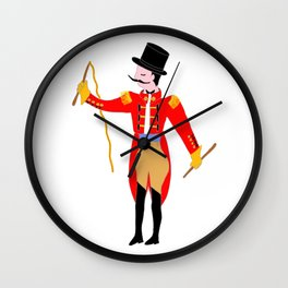 Circus Ring Master Circus Party Wall Clock