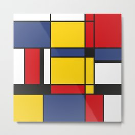 Downtown, Tribute to Mondrian Metal Print