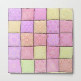 Pastel Quilt 01 Metal Print