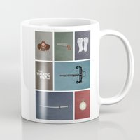 the walking dead Mugs featuring Walking Dead (colors) by avoid peril