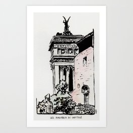 The lovers of the Capitoline Hill - Rome Art Print
