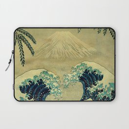 The Great Blue Embrace at Yama Laptop Sleeve