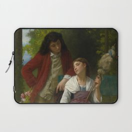 """Elizabeth Jane Gardner Bouguereau """"Before the Engagement"""" Laptop Sleeve"""