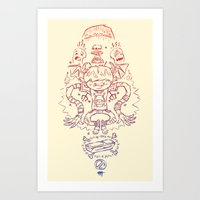 evil Art Prints featuring Evil by Frobot