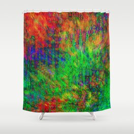 Exploded Pattern Shower Curtain