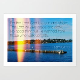 Bible Verse: Sun and Shield Art Print