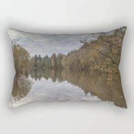 Autumn Lake Reflections Rectangular Pillow