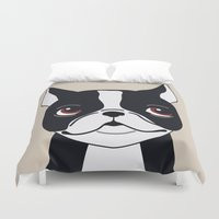 frenchie Duvet Covers featuring Frenchie by Darish