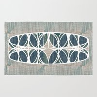 scandinavian Area & Throw Rugs featuring Scandinavian retro by a.r.r.p.