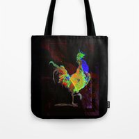 rooster Tote Bags featuring ROOSTER by mimulux