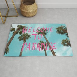 Welcome To Paradise - Pink Rug