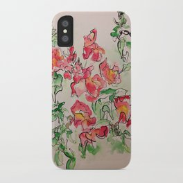 Blind Contour Snapdragon iPhone Case