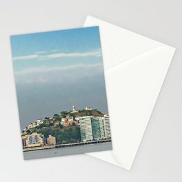 Guayaquil Panoramic Cityscape Skiline, Ecuador Stationery Cards