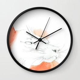 Minimalistic Red Ruffed Lemur Wall Clock