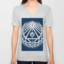 Radiant Abundance (blue-white) Unisex V-Neck